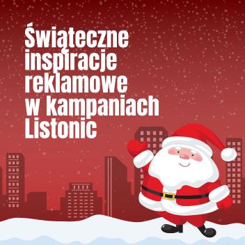 Świąteczne inspiracje reklamowe wkampaniach Listonic